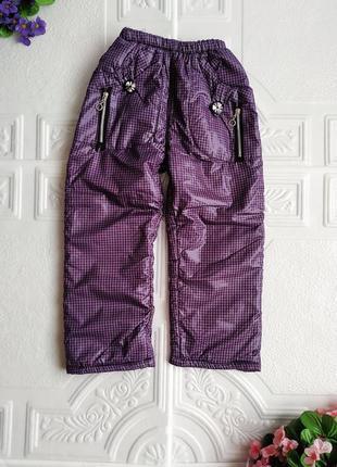Зимние утепленные брюки на резинке1 фото