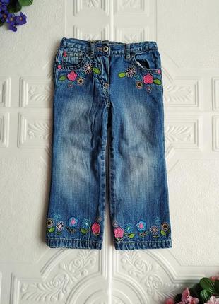 Демисезонные утепленные прямые джинсы george