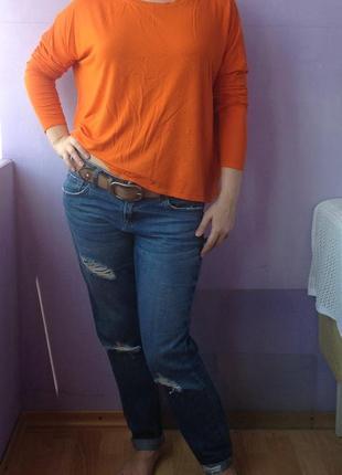Укороченный модный свитерок свободного покроя 12 размера