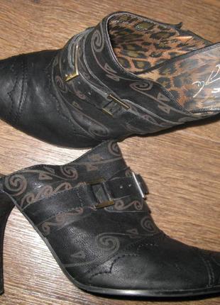Туфли мюли на каблуке