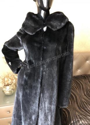 Норковая шуба с капюшоном graziella pellicce, италия, 44-46, 110 см