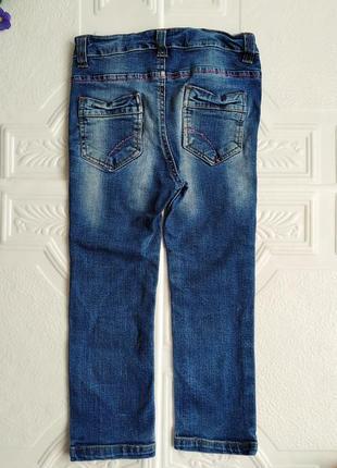 Зауженные джинсы скинни с вышивкой e-vie angel4 фото
