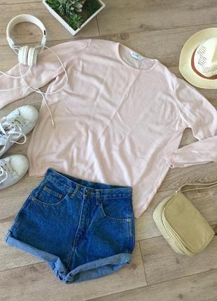 Нежно-розовый шерстяной джемпер