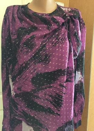 Шифоновая блуза с оригинальным бантом