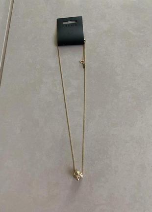 Красивая модная подвеска цепочка в золотистом цвете дорогого бренда pilgrim дания дизайн
