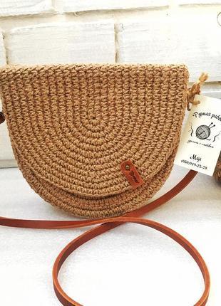 Плетеная эко сумка, сумочка
