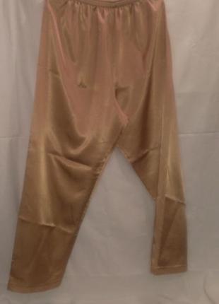Фирменные женские атласные классные пижамные брюки