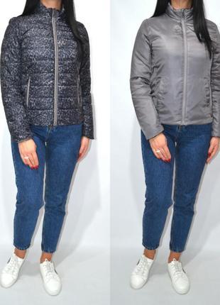 Куртка демисезонная двустороняя леопардовый принт laura .1 фото