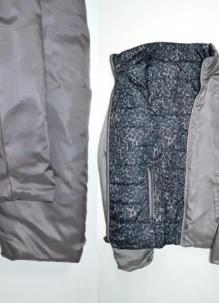 Куртка демисезонная двустороняя леопардовый принт laura .2 фото