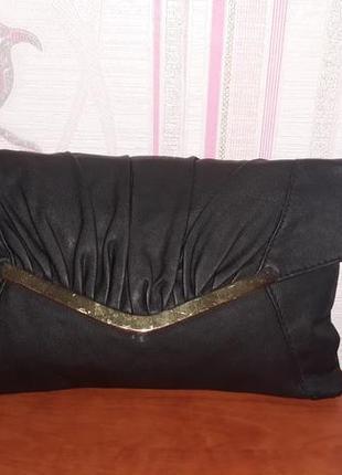 Стильный черный клатч new look