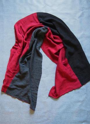 Огромный легкий и теплый шерстяной шарф (италия)