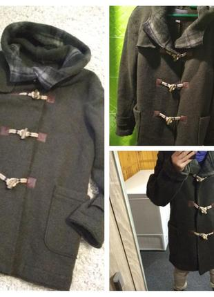 Актуальное стильное шерстяное пальто с капюшоном, bershka,