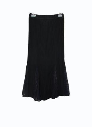 Шикарная юбка-годе стрейчь 100 % rayon с гипюровой вставкой