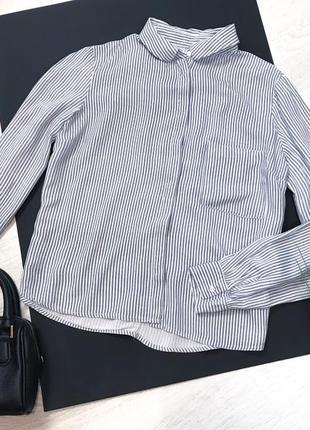 Рубашка в полоску с пуговицами схади bershka