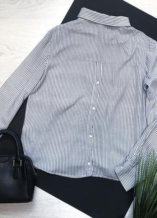 Рубашка в полоску с пуговицами схади bershka2 фото