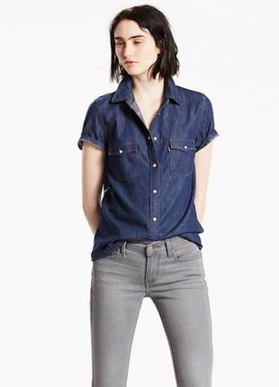 Джинсовая рубашка shortsleeve western shirt livi's оригинал