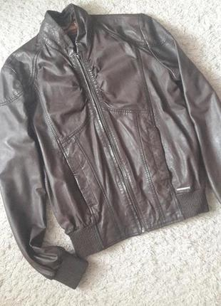 Куртка кожа бомбер