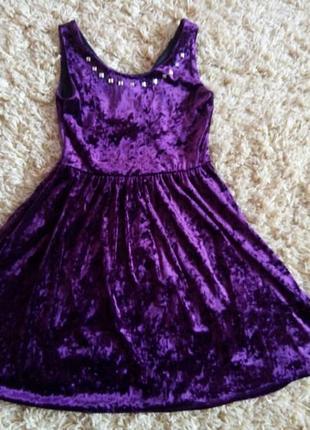 Нарядное бархатное платье, сарафан