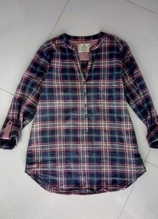 Блуза в клетку х/б
