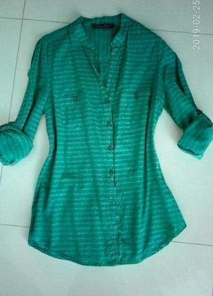 Блуза бирюзовая