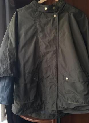 2 в 1.  двойная. супер стильная куртка парка zara. оригинал