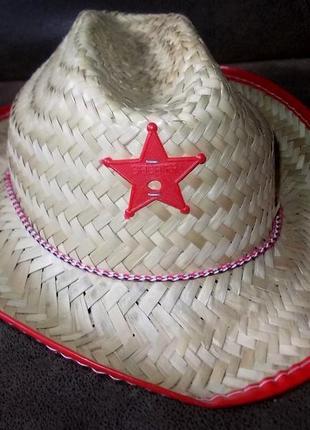 Соломенная шляпа для шерифа детская