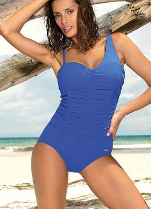 Gabrielle marko синий цельный купальник скрывает недостатки