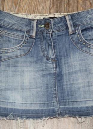 Джинсовая юбка miss selfridge в идеальном состоянии xs