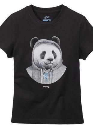 Стильная футболка 134-140, 8-10 лет pepperts германия панда