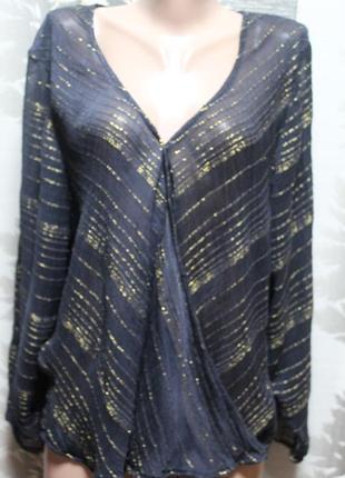 Легкая блузка с люриксом new look в идеальном состоянии 2xl