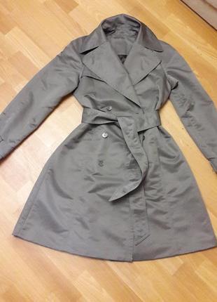 Стильный плащ пальто тренч на подкладке м