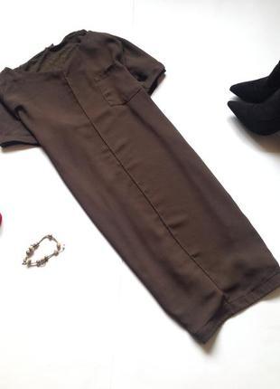 Длинная блуза туника цвета хаки