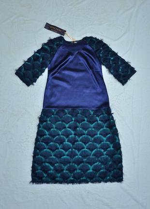 Дизайнерское платье а-силуэта