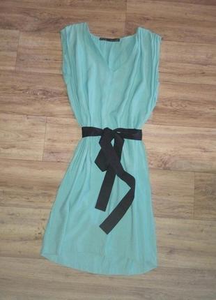 Платье zara нежно бирюзового цвета