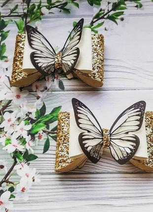 Бантики--бабочки резинка, заколка, повязка