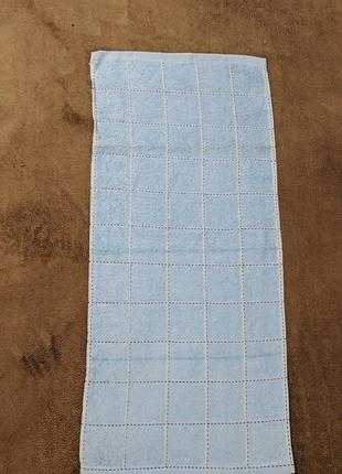 Махровое полотенце в клетку