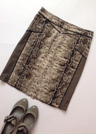 Юбка с принтом питона. культовый бренд biba s-ка2 фото