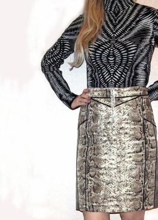 Юбка с принтом питона. культовый бренд biba s-ка5 фото