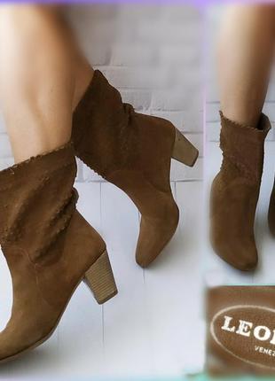 39р замша!новые италия la.artigiana,рыжие ботинки,сапожки