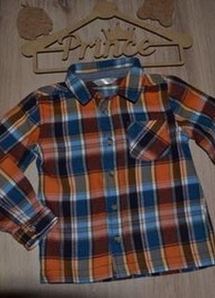 Баевая рубашка baby m&co 2-3г