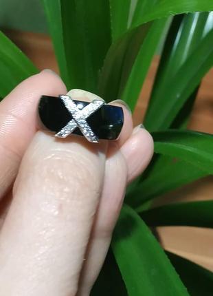 Кольцо керамическое керамика цирконий черное