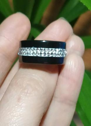 Кольцо керамическое черное цирконий