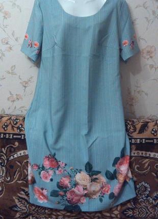 Новое бомбезное платье 54р
