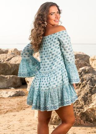 f60796871ae Летнее обалденное платье в стиле бохо цвета морской лазури indiano