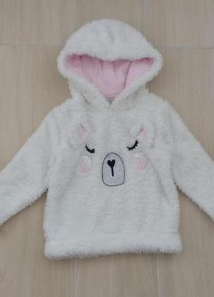 2-3 года плюшевый свитер с блестками !
