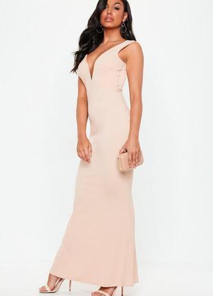 Роскошное вечернее платье в пол missguided ms275