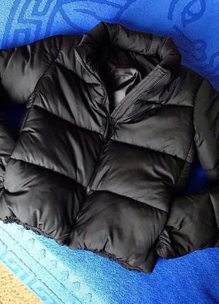 Новая куртка, пуховик зефирка чёрная4 фото
