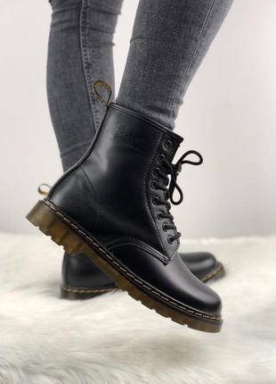 Демисезонные ботинки без меха унисекс dr martens 1460 black e2fbeb08a777e