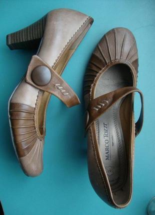 Новые туфли marco tozzi 38 р кожа