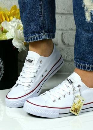 Белые кеды кроссовки star!2 фото